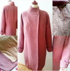 Wool vinter coat with embroidery by Nataly Design Danish Design, Handcrafted Jewelry, Women Jewelry, Men Sweater, Embroidery, Wool, Sweaters, Fashion Design, Clothes