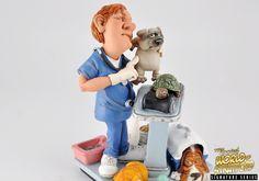 Veterinarian collectible figurine by Warren Stratford