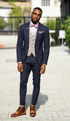 Black Mens Fashion Suits, Suit Fashion, Fashion Outfits, Male Fashion, Dress Suits For Men, Suit And Tie, Mens Suits, Wedding Dress Men, Wedding Men
