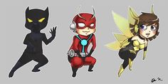 Avengers chibis 1 by Airafleeza on DeviantArt whoot Ant Man & WasP♥