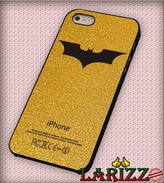 """batman logo gold for iPhone 4/4s, iPhone 5/5S/5C/6/6 , Samsung S3/S4/S5, Samsung Note 3/4 Case """"007"""""""