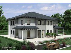 Finesse 120 - #Doppelhaus von Bau Braune Inh. Sven Lehner | HausXXL #Massivhaus #Energiesparhaus #Nullenergiehaus #modern #Walmdach