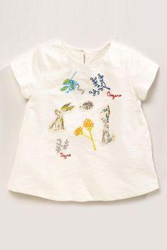 Купить Светло-бежевая футболка с вышивкой (3 мес.-6 лет) - Покупайте прямо сейчас на сайте Next: Россия