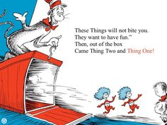 ... Twintheyellybeansdesigns Thing 1 Thing 2 Quote Cat In The Hat Riding  Bike With Thing 1 And Thing ...