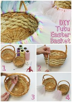 You have to make this!! DIY Tutu Easter Basket. The littles will LOVE it!