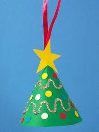 How To Make A Miniature Christmas Tree Ornament - Christmas Crafts in Christmas Tree Crafts Ornaments 50 Ho Christmas Arts And Crafts, Preschool Christmas, Christmas Activities, Christmas Projects, Christmas Themes, Holiday Crafts, Christmas Decorations, Tree Decorations, Toddler Christmas