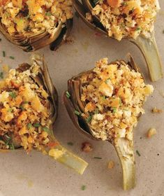 Baked Stuffed Artichokes With Pecorino Recipe