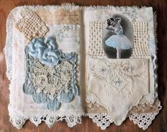 Fabric Collage Book... https://www.flickr.com/photos/therusticvictorian/