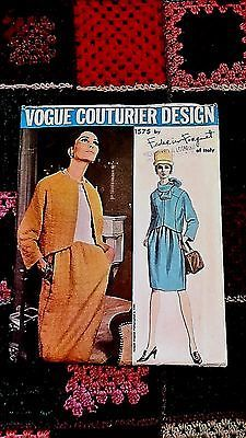 Vintage 60s Federico Forquet Dress Jacket Vogue Couturier Sewing Pattern 16 NEW | eBay