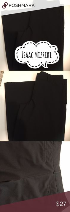 Isaac Mizrahi dress pants Isaac Mizrahi slacks. Size 10. Wide legs. Two hooks in front along with the zipper. 32 inch inseam. Two back pockets. Excellent condition. Isaac Mizrahi Pants Trousers