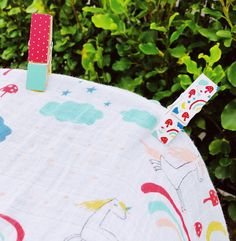 Beautiful hand painted pram pegs and muslins for baby Beautiful Hands, Enchanted, Reusable Tote Bags, Hand Painted