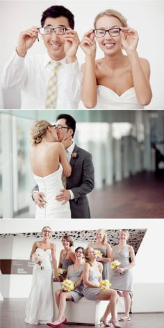...and the bride wore glasses. Beautiful people and details and pictures and video.