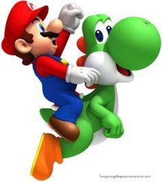 Mario con yoshi llega más rapido