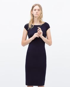 Image 1 of V-BACK RAYON DRESS from Zara
