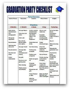 graduation party planning quick plan