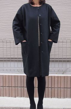 Cocoon Coat | Another cool Japanese sewing pattern. Learn to sew them at www.japanesesewingpatterns.com