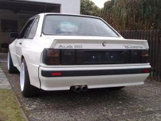 Audi 80 Sport Quattro. Never seen an Ur-Quattro in coupe form. Sleek!