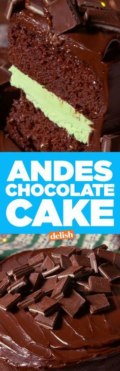 Andes chocolate lovers, meet your never favorite cake.