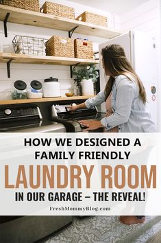 Today we're sharing 5 tips to transform any space into a special family friendly laundry room with tons of functionality for a busy family. Laundry Room Shelves, Laundry Room Organization, Organization Hacks, Create A Family, Diy Cleaners, Diy Cleaning Products, Small Appliances, Clean House, Home Projects