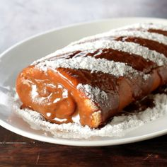 Brazilian dulce de leche roll cake.