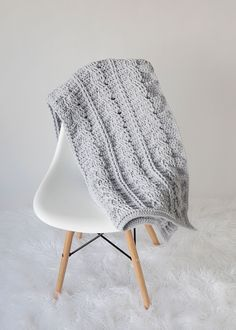 Timeless Cabled Throw Crochet Pattern - Leelee Knits