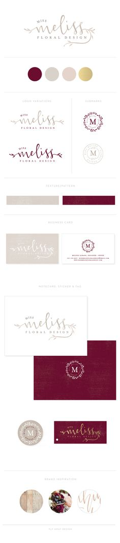 BRAND LAUNCH: MISS MELISS FLORAL DESIGN STYLE BOARD — Fly Away Design #design #branding #florist #wedding #logo