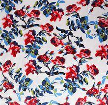 Telas Vintage China Rose Druck Baumwolle Stretch Satin Patchwork Stoff Nähen Tuch Kleid tecidos para artesanato Textil Tissue(China (Mainland))