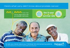 Talk to your doctor about your individual risk of prostate cancer.