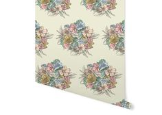 Vintage wallpaper Bouquet by Rattenkonig on Etsy