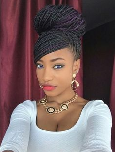 Box braids hairstyles are one of the most popular African American protective styling choices. Summer lifts the percentage significantly with activities. braided hairstyles 65 Box Braids Hairstyles for Black Women Box Braids Bun, Box Braids Styling, Twist Braids, Jumbo Braids, Micro Braids, Long Braids, Micro Twists, Braids Easy, Havana Twists