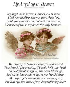My Angel up in Heaven~by Dave Hedges