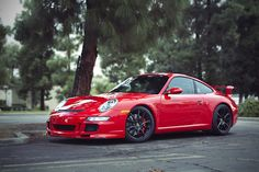 Red Porsche.