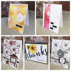 We're so excited to have @justinehovey as our October Guest Designer! For today's post, she made five different cards using our Morning Glory background stamp. Head over to the blog for a video and more details! #theton #thetonstamps #papercrafts #cardmaking