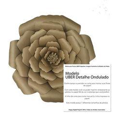 Molde de Pétalas para Criar Flores UBER Gigantes    UBER Pétala com detalhe ondulado