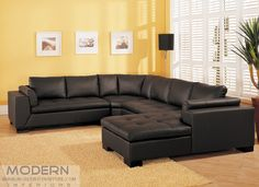 Modern Leather Sectional Sofa Tosh Furniture BT-0526
