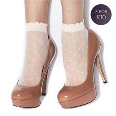 I've always loved ankle socks with heels.
