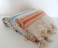 Set of 3 Turkish Towel Peshtemal Beach Towel by CottonBathTowels, $60.00