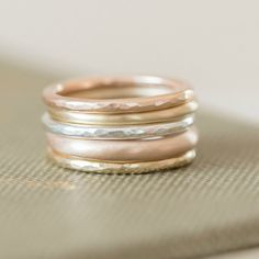 swap 9ct gold stacking rings -White gold, Yellow gold, Red gold or Rose gold - By Alison Moore Designs