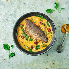 A quick and easy Sea Bass On Smoky Chorizo Chowder recipe, from our authentic Spanish cuisine collection. Find brilliant recipe ideas and cooking tips at Gousto Garlic Recipes, Fish Recipes, Seafood Recipes, Salad Recipes, Cooking Recipes, Seafood Soup, Recipies, Cooking Sea Bass, White Bean Recipes