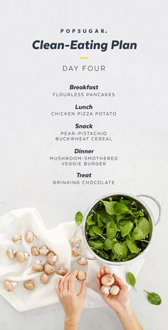 """You had me at """"chicken pizza potato."""" Check out all the days of our 2-Week Clean-Eating Plan for filling and tasty  clean recipes."""