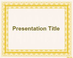 Free simple frame PowerPoint template with yellow and light background