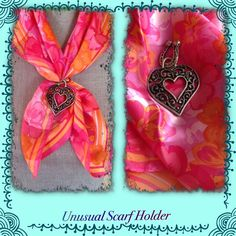 🎉UNIQUE Scarf Holder🎉 Heart Shaped Scarf Holder brought from the Netherlands.  Scarf not included. Jewelry