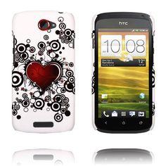 Valentine (Punainen Sydän & Ympyrät) HTC One S Suojakuori Htc One, Circles, Heart, Cover, Red, Blankets