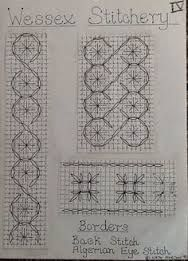 Resultado de imagen para wessex embroidery patterns Blackwork, Hand Embroidery Patterns, Needle And Thread, Projects To Try, Diagram, Lovely Things, Stitching, Picture On Wood, Projects