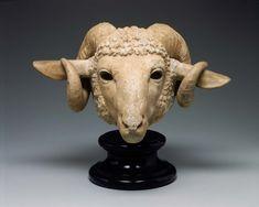 Ram's head. Greek, Late Classical Period, probably 4th century B.C.