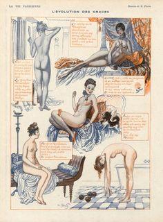 ''L'évolution des graces'' by Georges Pavis (1919)