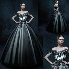 Let charming drop waist ball gown wedding dress on DHgate.com get your heart. Besides, princess gown wedding dresses and red ball gown wedding dresses are also winners. gothic wedding dresses 2016 off the shoulder black short sleeves bridal gowns ball gown floor length dress for brides informal custom made belong to you and zlldress can cheer you up.