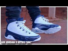 96c58c2d4926fc Air Jordan 9 Retro  UNC  - YouTube Jordan 9 Retro