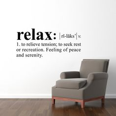 Relax Definition Wall Decal  Dictionary by StephenEdwardGraphic, $35.00