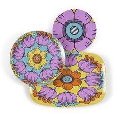 Purple passion. Break resistant Plates and Platters. Dishwasher safe. Handmade in the USA. plateshoppe.com